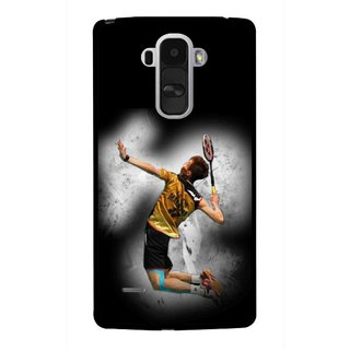 Snooky Printed Badminton Mania Mobile Back Cover For Lg G4 Stylus - Black