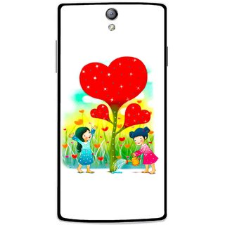 Snooky Printed Heart Plant Mobile Back Cover For Oppo Find 5 Mini - White