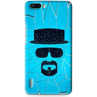 Snooky Printed Beard Man Mobile Back Cover For Huawei Honor 6 Plus - Multi