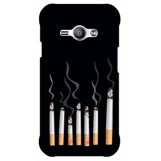Snooky Printed Smoking Mobile Back Cover For Samsung Galaxy Ace J1 - Multicolour
