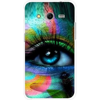 Snooky Printed Designer Eye Mobile Back Cover For Samsung Galaxy G355 - Multicolour
