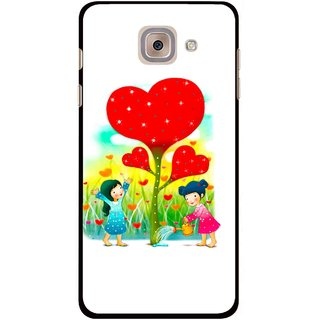 Snooky Printed Heart Plant Mobile Back Cover For Samsung Galaxy J7 Max - White
