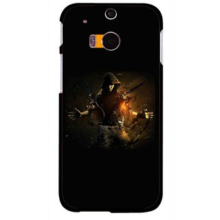 Snooky Printed Dancing Boy Mobile Back Cover For HTC One M8 - Multicolour