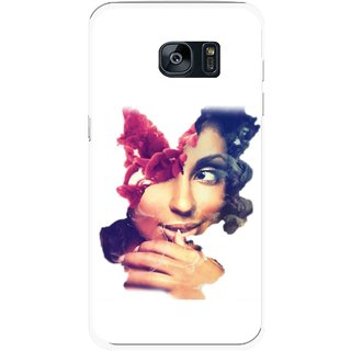 Snooky Printed Vintage Girl Mobile Back Cover For Samsung Galaxy S7 Edge - Multicolour