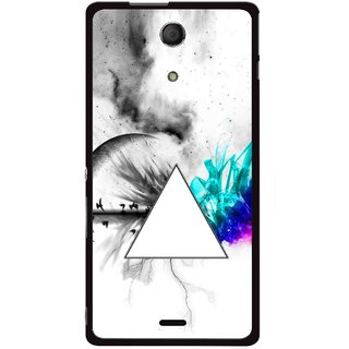 Snooky Printed Math Art Mobile Back Cover For Sony Xperia ZR - Multicolour