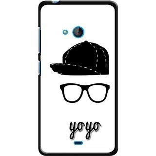 Snooky Printed Yo Yo Mobile Back Cover For Nokia Lumia 540 - Multicolour