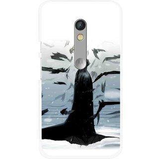 Snooky Printed Black Bats Mobile Back Cover For Motorola Moto X Play - Multi