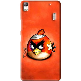 Snooky Printed Wouded Bird Mobile Back Cover For Lenovo A7000 - Multi