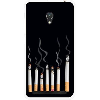 Snooky Printed Smoking Mobile Back Cover For Asus Zenfone 5 - Multicolour