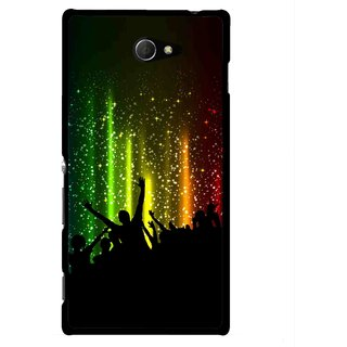 Snooky Printed Party Time Mobile Back Cover For Sony Xperia M2 - Multicolour