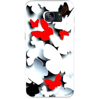 Snooky Printed Butterfly Mobile Back Cover For Samsung Galaxy S7 - Multicolour