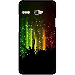 Snooky Printed Party Time Mobile Back Cover For Intex Aqua 3G Pro - Multicolour