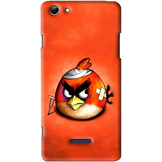 Snooky Printed Wouded Bird Mobile Back Cover For Micromax Canvas Selfie 3 Q348 - Multi