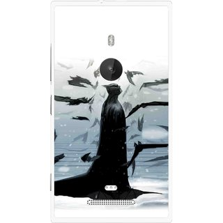 Snooky Printed Black Bats Mobile Back Cover For Nokia Lumia 925 - Multi