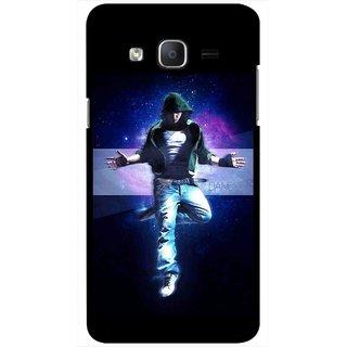 Snooky Printed Hug Me Mobile Back Cover For Samsung Galaxy On5 - Black