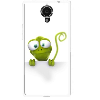 Snooky Printed Seeking Alien Mobile Back Cover For Gionee Elife E7 - White