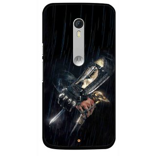 Snooky Printed The Thor Mobile Back Cover For Motorola Moto X Style - Black