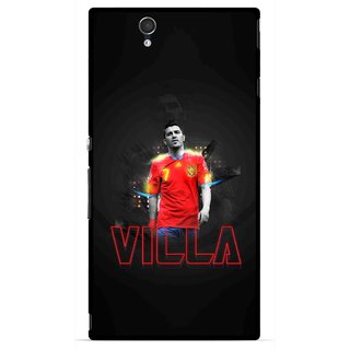 Snooky Printed Sports Villa Mobile Back Cover For Sony Xperia Z - Multicolour