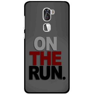 Snooky Printed On The Run Mobile Back Cover For Coolpad Cool 1 - Multi