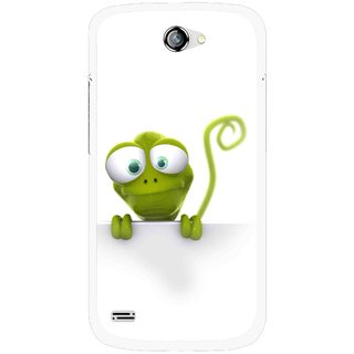 Snooky Printed Seeking Alien Mobile Back Cover For Gionee Pioneer P3 - White