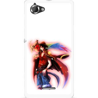 Snooky Printed Free Mind Mobile Back Cover For Sony Xperia L - Multicolour