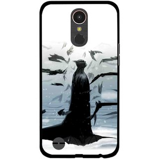 Snooky Printed Black Bats Mobile Back Cover For LG K10 2017 - Multi