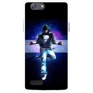 Snooky Printed Hug Me Mobile Back Cover For Oppo Neo 7 - Black