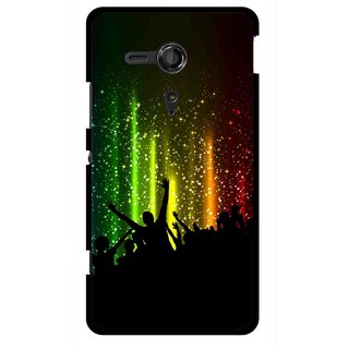 Snooky Printed Party Time Mobile Back Cover For Sony Xperia SP - Multicolour