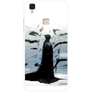 Snooky Printed Black Bats Mobile Back Cover For Vivo V3 - Multi