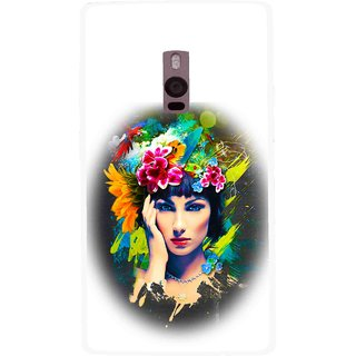 Snooky Printed Classy Girl Mobile Back Cover For OnePlus 2 - White