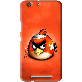 Snooky Printed Wouded Bird Mobile Back Cover For Gionee Marathon M5 - Multi