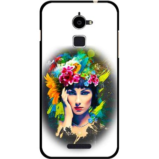 Snooky Printed Classy Girl Mobile Back Cover For Coolpad Note 3 Lite - White