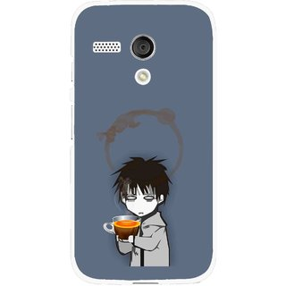 Snooky Printed Need Rest Mobile Back Cover For Moto G - Blue