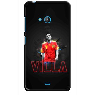 Snooky Printed Sports Villa Mobile Back Cover For Nokia Lumia 540 - Multicolour