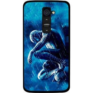 Snooky Printed Blue Hero Mobile Back Cover For Lg G2 - Multi