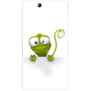 Snooky Printed Seeking Alien Mobile Back Cover For Sony Xperia Z Ultra - White