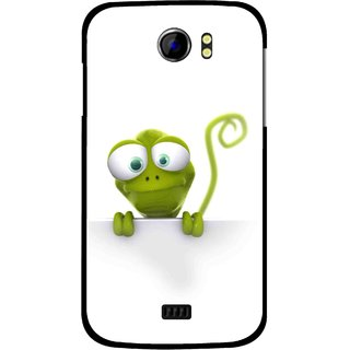 Snooky Printed Seeking Alien Mobile Back Cover For Micromax Canvas 2 A110 - White