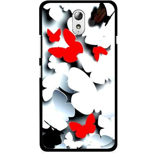 Snooky Printed Butterfly Mobile Back Cover For Lenovo Vibe P1M - Multicolour