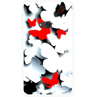 Snooky Printed Butterfly Mobile Back Cover For Nokia Lumia 625 - Multicolour