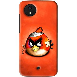 Snooky Printed Wouded Bird Mobile Back Cover For Micromax Canvas Android One - Multi