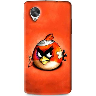Snooky Printed Wouded Bird Mobile Back Cover For Lg Google Nexus 5 - Multi