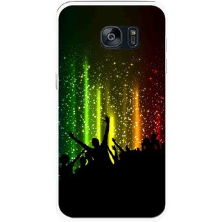 Snooky Printed Party Time Mobile Back Cover For Samsung Galaxy S7 Edge - Multicolour