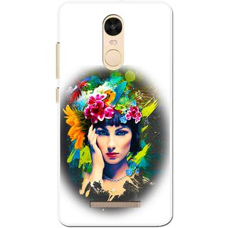 Snooky Printed Classy Girl Mobile Back Cover For Gionee S6s - White