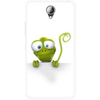 Snooky Printed Seeking Alien Mobile Back Cover For Lenovo A5000 - White