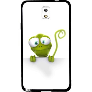 Snooky Printed Seeking Alien Mobile Back Cover For Samsung Galaxy Note 3 - White