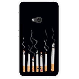 Snooky Printed Smoking Mobile Back Cover For Nokia Lumia 625 - Multicolour