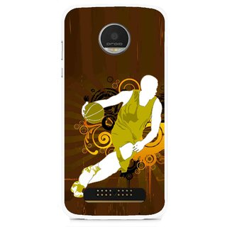 Snooky Printed Chamoins wins Mobile Back Cover For Moto Z - Multi