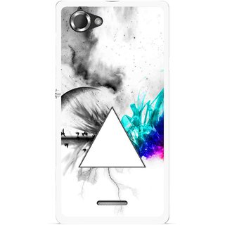Snooky Printed Math Art Mobile Back Cover For Sony Xperia L - Multicolour