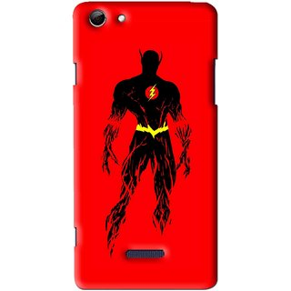 Snooky Printed Electric Man Mobile Back Cover For Micromax Canvas Selfie 3 Q348 - Multi