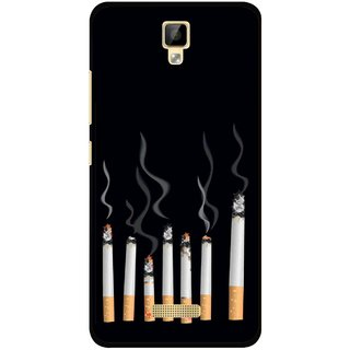 Snooky Printed Smoking Mobile Back Cover For Gionee P7 - Multicolour